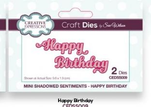 Mini Shadowed Sentiments Collection - Happy Birthday